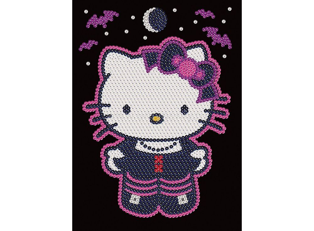 Мозаика из блесток «Hello Kitty» готика»
