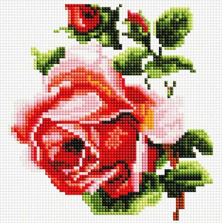 Стразы «Изящная роза»Алмазная вышивка фирмы Белоснежка<br><br><br>Артикул: 350-ST-S<br>Основа: Холст на подрамнике<br>Сложность: легкие<br>Размер: 20x20 см<br>Выкладка: Полная<br>Количество цветов: 21<br>Тип страз: Квадратные