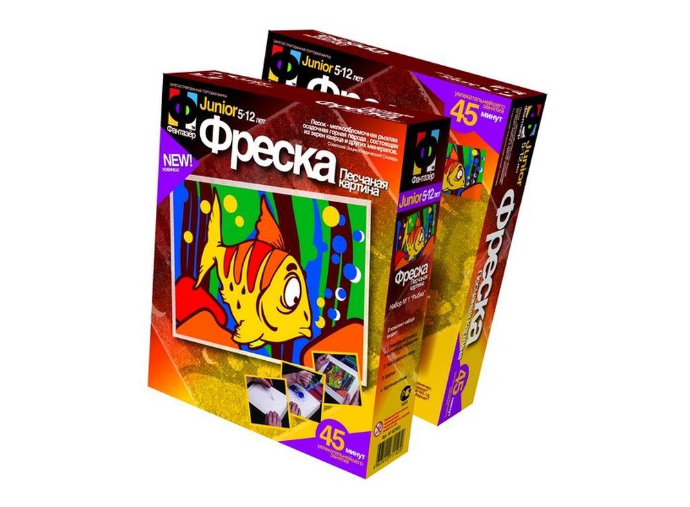 Фреска «Рыбка»Фрески<br><br><br>Артикул: 407001<br>Размер упаковки: 22x18,5x5 см<br>Возраст: от 3 лет