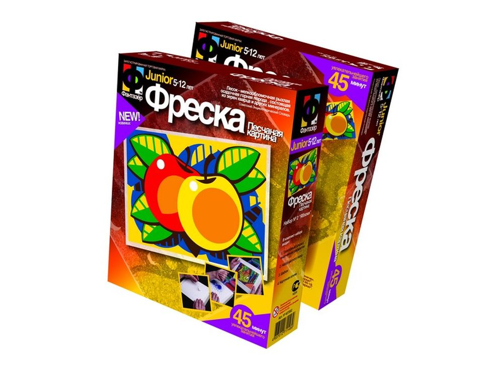 Фреска «Яблоки»Фрески<br><br><br>Артикул: 407002<br>Размер упаковки: 22x18,5x5 см<br>Возраст: от 3 лет