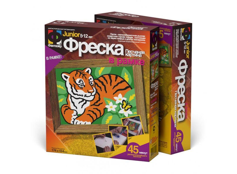 Фреска «Тигр и бабочка»Фрески<br><br><br>Артикул: 407033<br>Размер упаковки: 22x18,5x5 см<br>Возраст: от 3 лет
