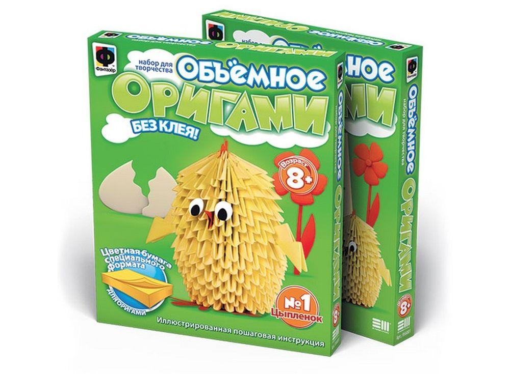 Объемное оригами «Цыплёнок»Оригами<br><br><br>Артикул: 956001<br>Размер упаковки: 22x18,5x2,5 см<br>Возраст: от 8 лет