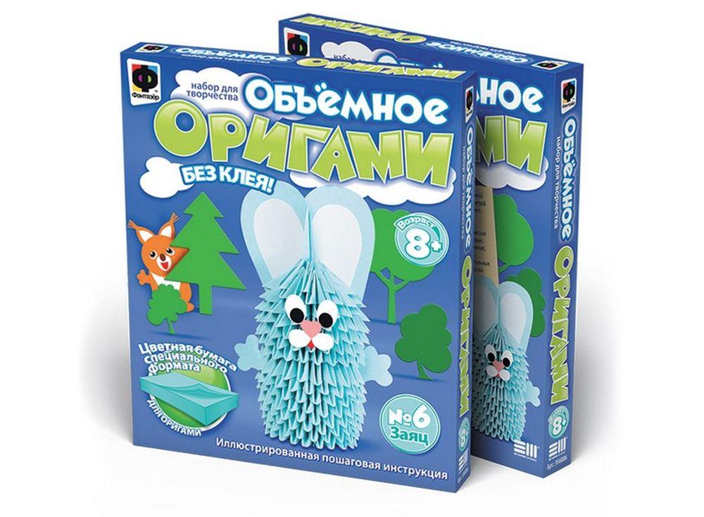 Объемное оригами «Заяц»Оригами<br><br><br>Артикул: 956006<br>Размер упаковки: 22x18,5x2,5 см