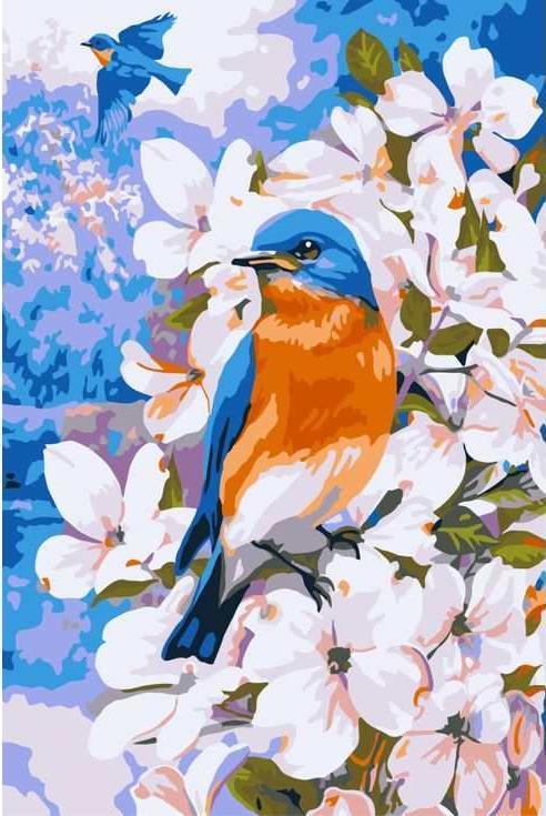 Картина по номерам «Полет весны» Грега ДжорданоРаскраски по номерам Paintboy (Original)<br><br><br>Артикул: CX3160_R<br>Основа: Холст<br>Сложность: легкие<br>Размер: 20x30 см<br>Количество цветов: 16<br>Техника рисования: Без смешивания красок