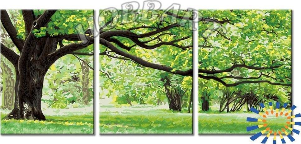 Картина по номерам «Вековой»Hobbart<br><br><br>Артикул: DZ34090003-Lite<br>Основа: Цветной холст<br>Сложность: очень сложные<br>Размер: 3 шт. 30x40 см<br>Количество цветов: 19<br>Техника рисования: Без смешивания красок