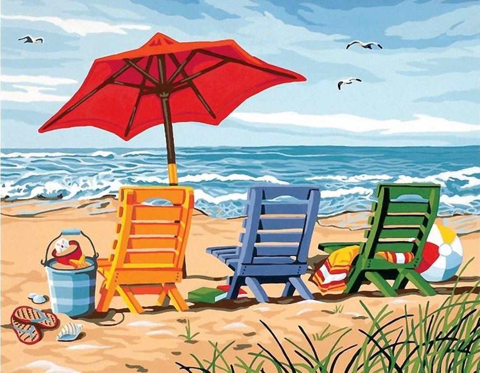 «У моря»Раскраски по номерам Paintboy (Original)<br><br><br>Артикул: E075_R<br>Основа: Холст<br>Сложность: средние<br>Размер: 30x40 см<br>Количество цветов: 26<br>Техника рисования: Без смешивания красок