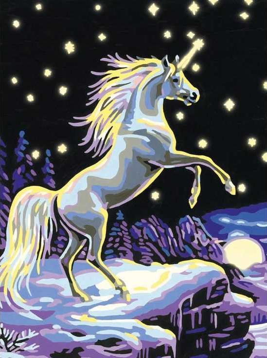 Картина по номерам «Единорог в лунном свете»Раскраски по номерам Paintboy (Original)<br><br><br>Артикул: EX5056_R<br>Основа: Холст<br>Сложность: легкие<br>Размер: 30x40 см<br>Количество цветов: 14<br>Техника рисования: Без смешивания красок