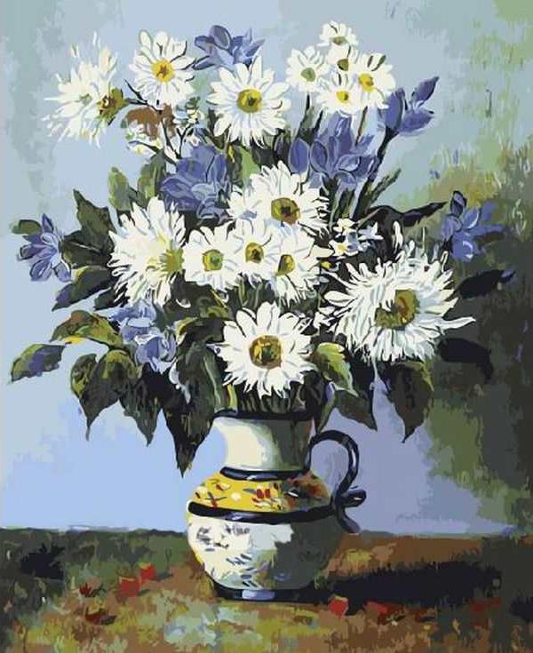 «Цветы в вазе»Раскраски по номерам Paintboy (Original)<br><br><br>Артикул: GX3040_R<br>Основа: Холст<br>Сложность: средние<br>Размер: 40x50 см<br>Количество цветов: 24<br>Техника рисования: Без смешивания красок