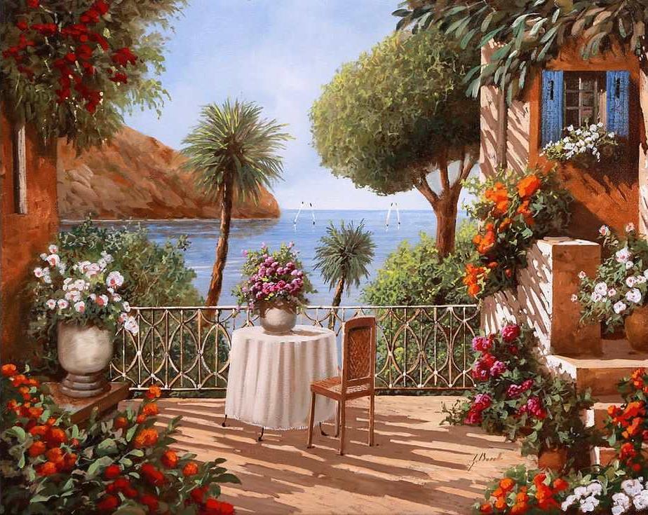 Картина по номерам «Средиземноморская веранда» Гвидо Борелли