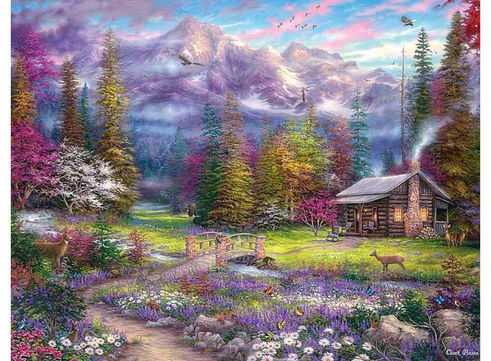 «Домик в горах» Чака ПинсонаРаскраски по номерам Paintboy (Original)<br><br><br>Артикул: GX3228_R<br>Основа: Холст<br>Сложность: сложные<br>Размер: 40x50 см<br>Количество цветов: 28<br>Техника рисовани: Без смешивани красок