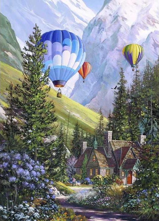 Картина по номерам «Воздушные шары в горах»Раскраски по номерам Paintboy (Original)<br><br><br>Артикул: GX3247_R<br>Основа: Холст<br>Сложность: средние<br>Размер: 40x50 см<br>Количество цветов: 27<br>Техника рисования: Без смешивания красок