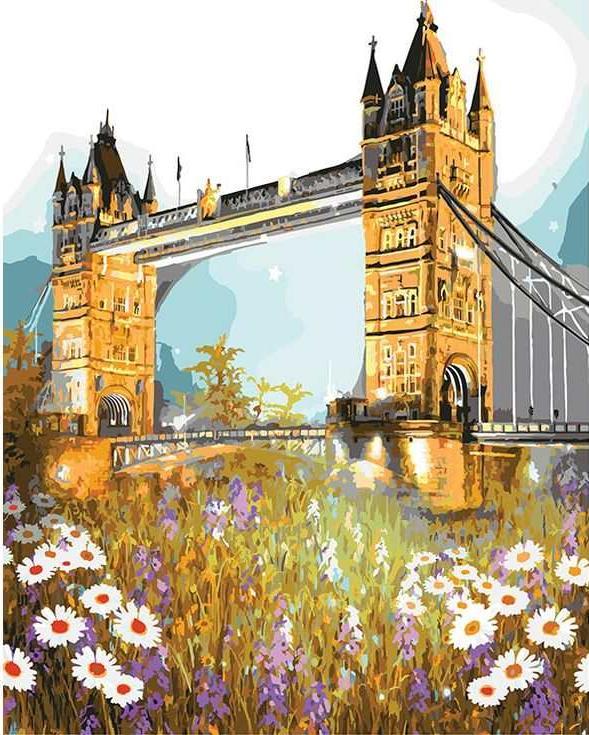 «Тауэрский мост в цветах»Раскраски по номерам Paintboy (Original)<br><br><br>Артикул: GX3286_R<br>Основа: Холст<br>Сложность: средние<br>Размер: 40x50 см<br>Количество цветов: 27<br>Техника рисования: Без смешивания красок