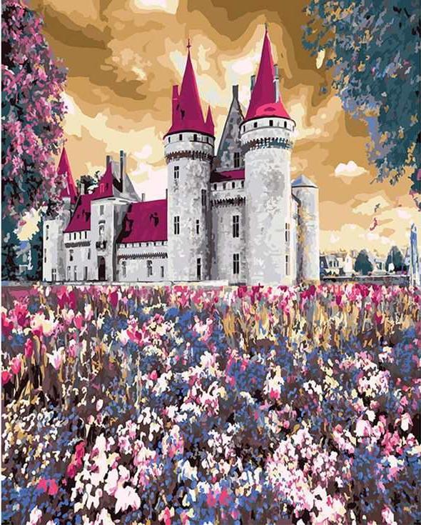 «Сказочный замок»Раскраски по номерам Paintboy (Original)<br><br><br>Артикул: GX3289_R<br>Основа: Холст<br>Сложность: средние<br>Размер: 40x50 см<br>Количество цветов: 26<br>Техника рисования: Без смешивания красок
