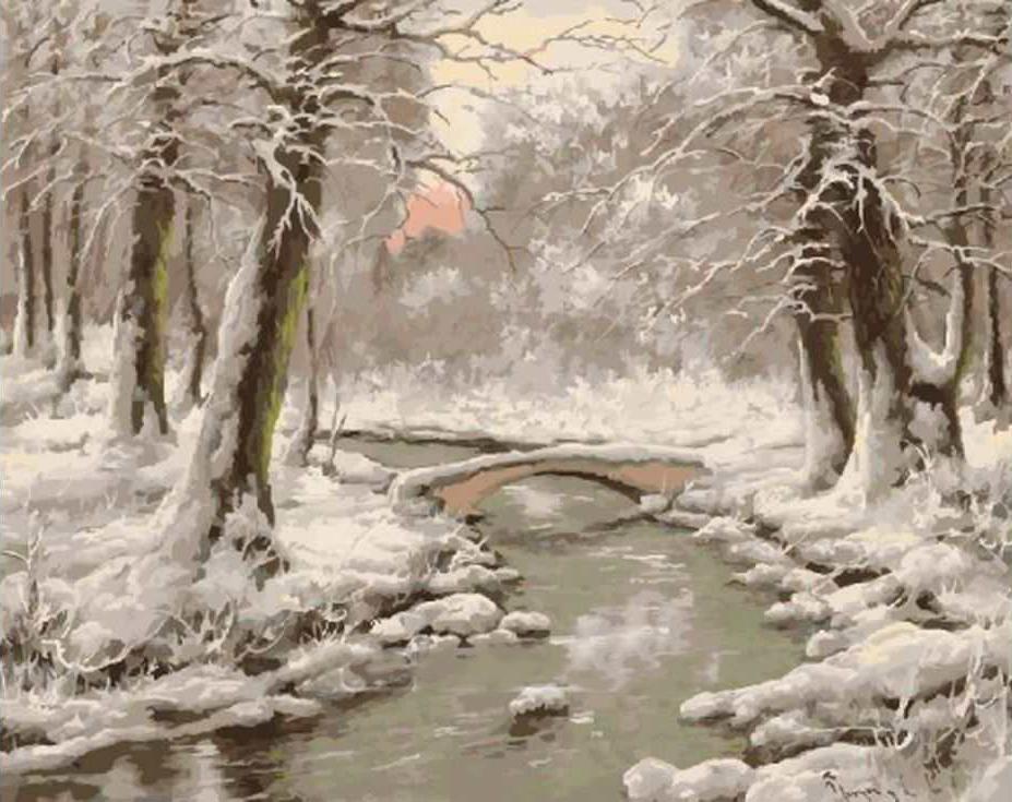 Картина по номерам «Зимний пейзаж на закате» Ласло НеоградиРаскраски по номерам Paintboy (Original)<br><br><br>Артикул: GX3316_R<br>Основа: Холст<br>Сложность: средние<br>Размер: 40x50 см<br>Количество цветов: 24<br>Техника рисования: Без смешивания красок