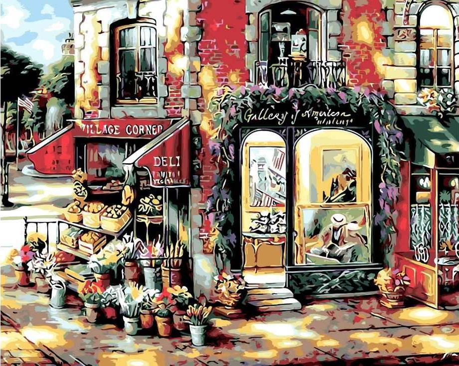 «Цветочный магазин» Джона О'БрайенаРаскраски по номерам Paintboy (Original)<br><br><br>Артикул: GX3331_R<br>Основа: Холст<br>Сложность: средние<br>Размер: 40x50 см<br>Количество цветов: 24<br>Техника рисования: Без смешивания красок