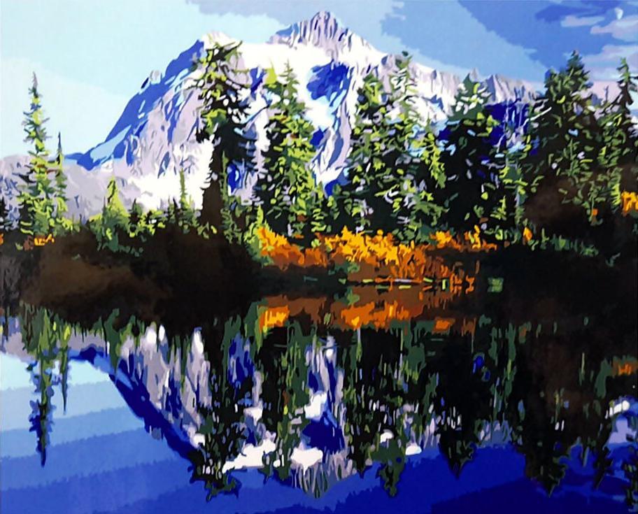 Картина по номерам «Байкал»Раскраски по номерам Paintboy (Original)<br><br><br>Артикул: GX3350_R<br>Основа: Холст<br>Сложность: средние<br>Размер: 40x50 см<br>Количество цветов: 25<br>Техника рисования: Без смешивания красок