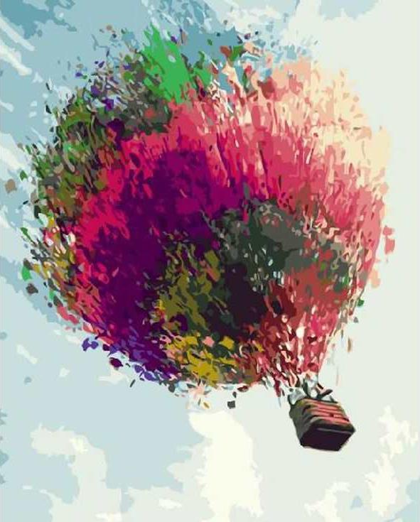 Картина по номерам «Пестрый воздушный шар»Раскраски по номерам Paintboy (Original)<br><br><br>Артикул: GX3355_R<br>Основа: Холст<br>Сложность: средние<br>Размер: 40x50 см<br>Количество цветов: 25<br>Техника рисования: Без смешивания красок