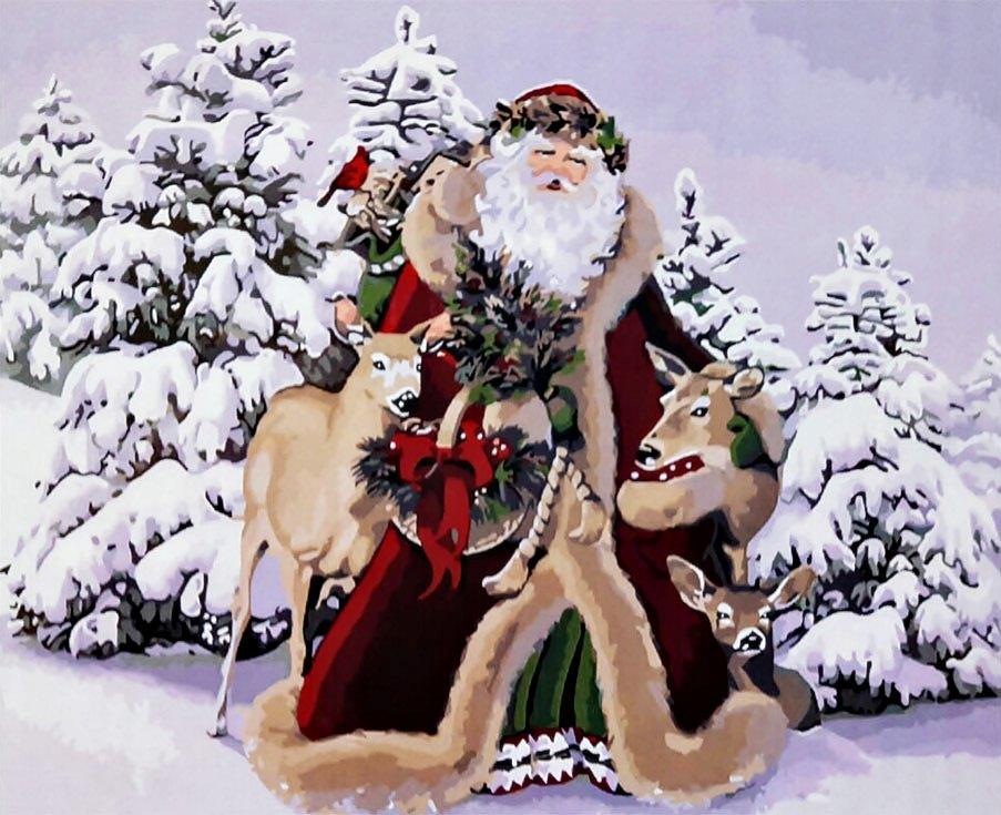 «Дедушка Мороз»Paintboy (Premium)<br><br><br>Артикул: GX3482<br>Основа: Холст<br>Сложность: средние<br>Размер: 40x50 см<br>Количество цветов: 24<br>Техника рисования: Без смешивания красок