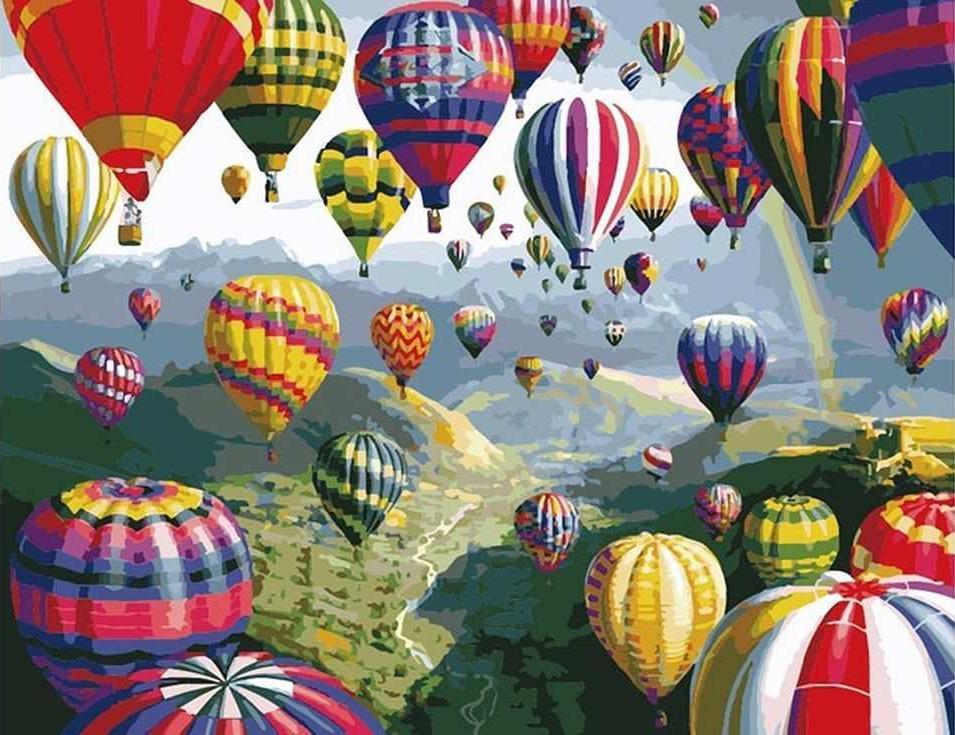 «Воздушные шары» Ники БомРаскраски по номерам Paintboy (Original)<br><br><br>Артикул: GX6524_R<br>Основа: Холст<br>Сложность: средние<br>Размер: 40x50 см<br>Количество цветов: 24<br>Техника рисовани: Без смешивани красок