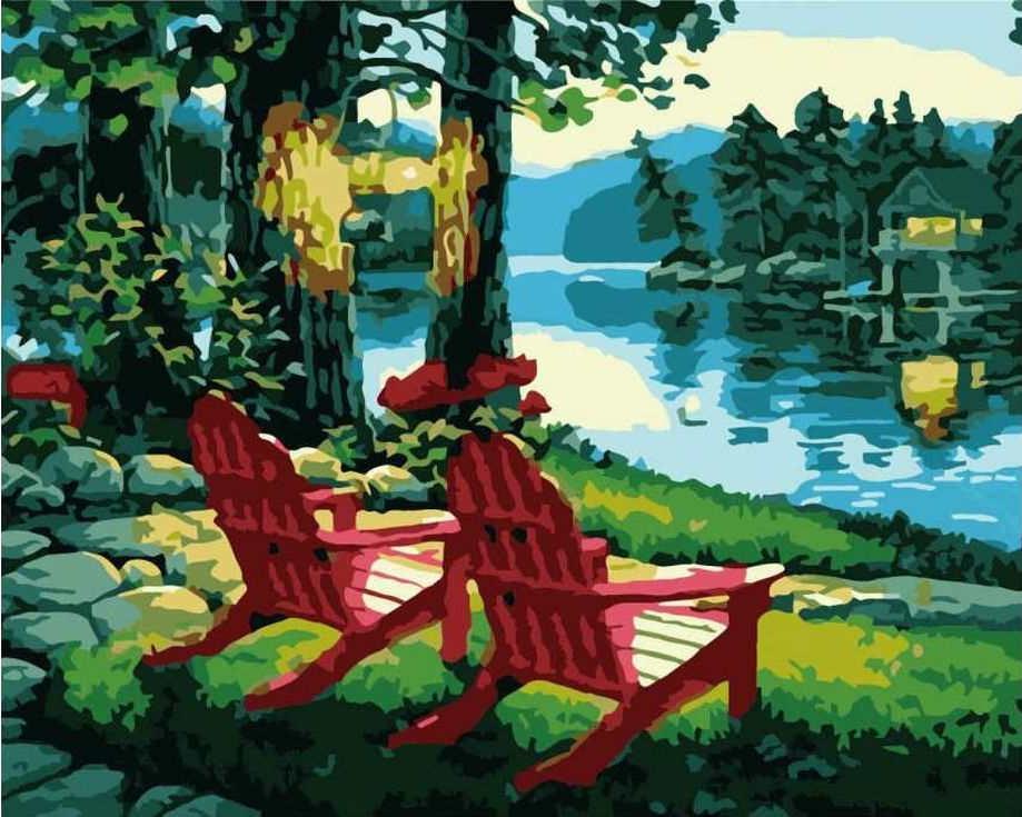«Тихий вечер у реки»Раскраски по номерам Paintboy (Original)<br><br><br>Артикул: GX6723_R<br>Основа: Холст<br>Сложность: средние<br>Размер: 40x50 см<br>Количество цветов: 20<br>Техника рисования: Без смешивания красок