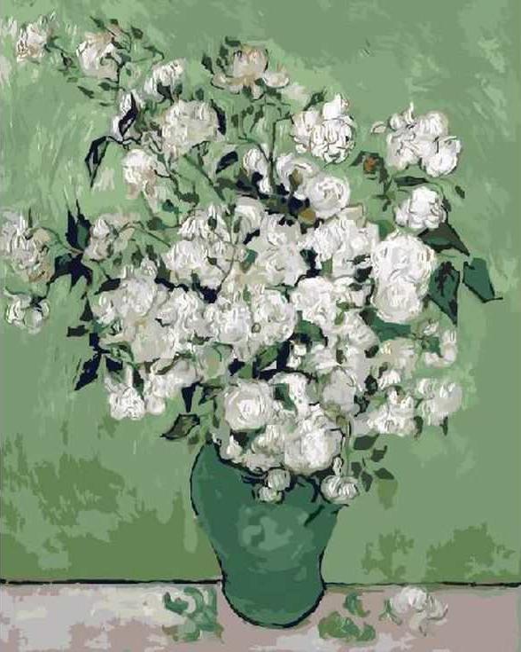 «Белый букет»Раскраски по номерам Paintboy (Original)<br><br><br>Артикул: GX7082_R<br>Основа: Холст<br>Сложность: средние<br>Размер: 40x50 см<br>Количество цветов: 23<br>Техника рисования: Без смешивания красок