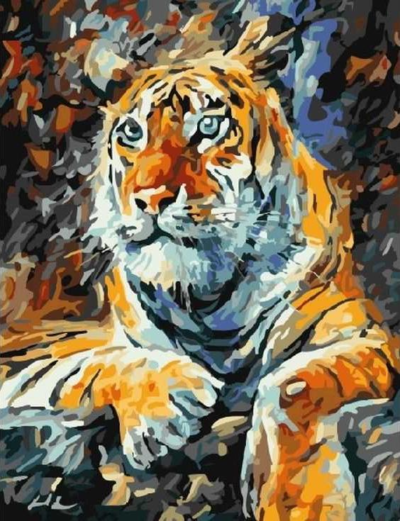 «Тигр» Леонида АфремоваРаскраски по номерам Paintboy (Original)<br><br><br>Артикул: GX7433_R<br>Основа: Холст<br>Сложность: средние<br>Размер: 40x50 см<br>Количество цветов: 21<br>Техника рисования: Без смешивания красок