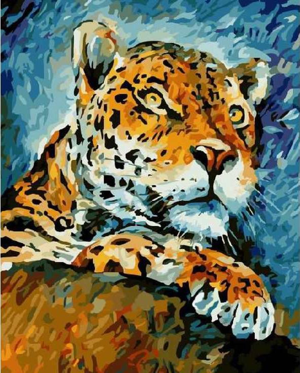 «Леопард» Леонида АфремоваРаскраски по номерам Paintboy (Original)<br><br><br>Артикул: GX7434_R<br>Основа: Холст<br>Сложность: средние<br>Размер: 40x50 см<br>Количество цветов: 27<br>Техника рисования: Без смешивания красок