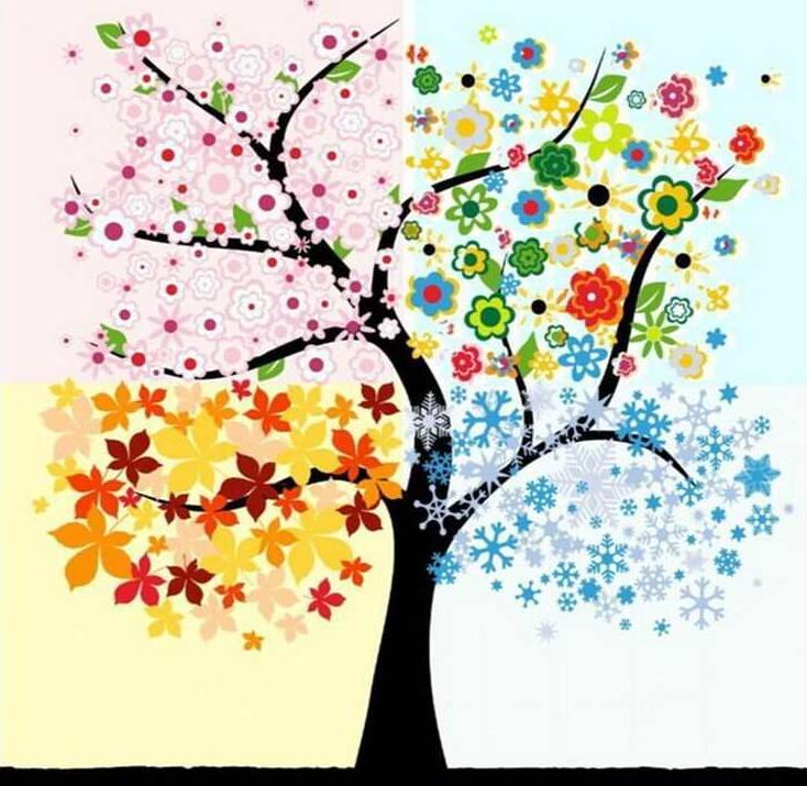 «Четыре сезона»Раскраски по номерам Paintboy (Original)<br><br><br>Артикул: GX7459_R<br>Основа: Холст<br>Сложность: средние<br>Размер: 40x50 см<br>Количество цветов: 20<br>Техника рисования: Без смешивания красок