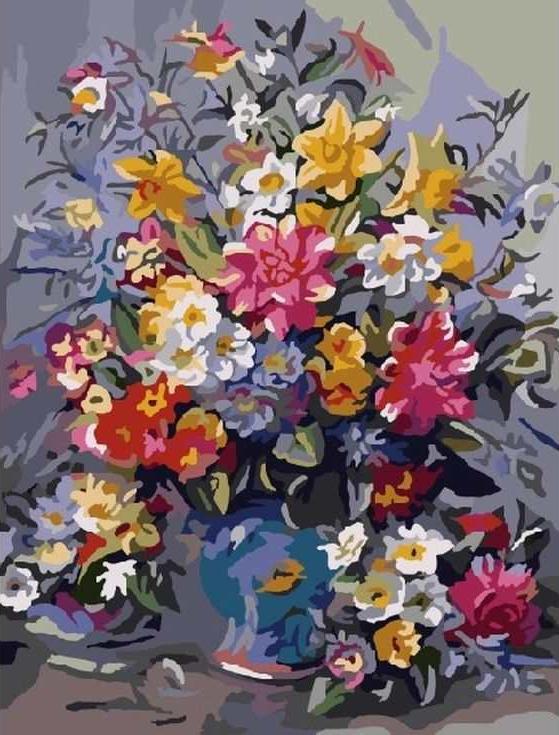 Купить Картина по номерам «Букет с лилиями», Paintboy (Original)