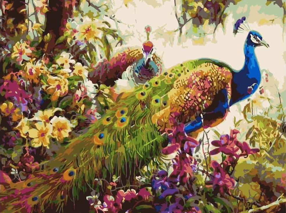 «Павлины»Paintboy (Premium)<br><br><br>Артикул: GX7546<br>Основа: Холст<br>Сложность: сложные<br>Размер: 40x50 см<br>Количество цветов: 29<br>Техника рисования: Без смешивания красок