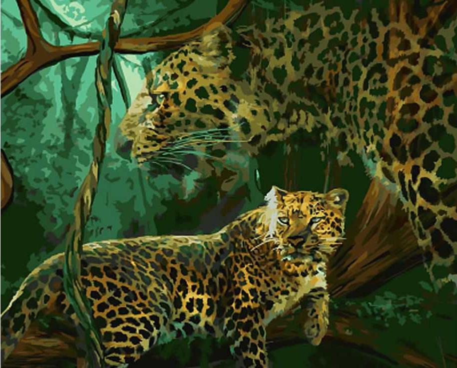 «Дух джунглей» Кэрол КаваларисРаскраски по номерам Paintboy (Original)<br><br><br>Артикул: GX7617_R<br>Основа: Холст<br>Сложность: средние<br>Размер: 40x50 см<br>Количество цветов: 24<br>Техника рисования: Без смешивания красок