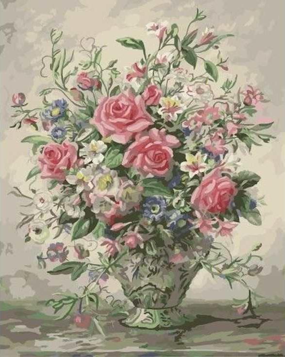 Купить Картина по номерам «Букет в пастельных тонах» Альберта Уильямса, Paintboy (Original)
