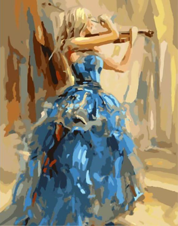 «Танец со скрипкой» Анны РазумовскойЦветной (Standart)<br><br><br>Артикул: GX8371_Z<br>Основа: Холст<br>Сложность: сложные<br>Размер: 40x50 см<br>Количество цветов: 25<br>Техника рисования: Без смешивания красок