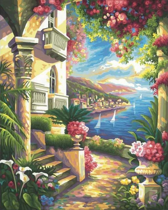 Картина по номерам «Вдоль побережья»Раскраски по номерам Paintboy (Original)<br><br><br>Артикул: GX9862_R<br>Основа: Холст<br>Сложность: сложные<br>Размер: 40x50 см<br>Количество цветов: 30<br>Техника рисования: Без смешивания красок