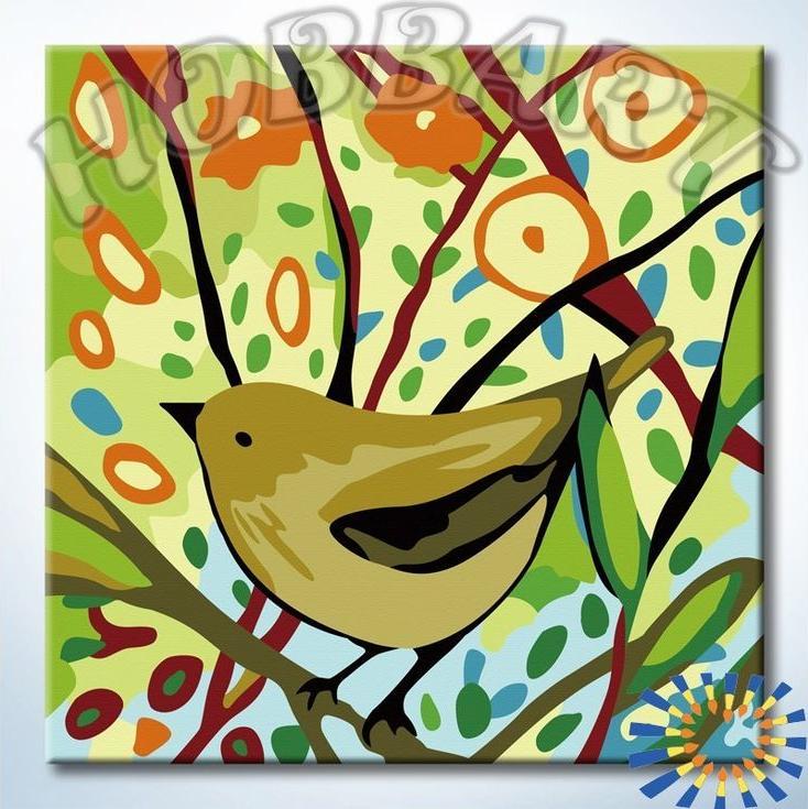 «На цветущих ветках»Hobbart<br><br><br>Артикул: HB2020087<br>Основа: Холст<br>Сложность: легкие<br>Размер: 20x20 см<br>Количество цветов: 15<br>Техника рисования: Без смешивания красок