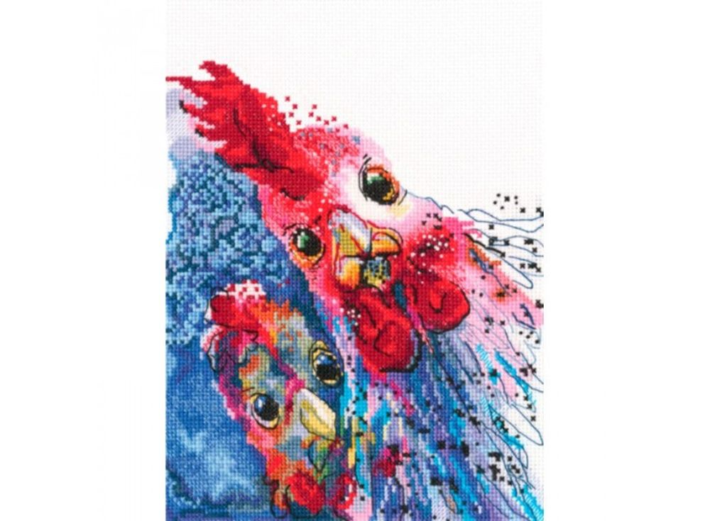 Набор для вышивания «Жареная курица с картошкой?!»RTO<br><br><br>Артикул: M658<br>Основа: канва Aida 16<br>Сложность: сложные<br>Размер: 15,5x18,5 см<br>Техника вышивки: счетный крест<br>Тип схемы вышивки: Символьная схема<br>Цвет канвы: Белый<br>Количество клеток на см: 63 клетки на 10 см<br>Заполнение: Частичное<br>Рисунок на канве: не нанесён<br>Техника: Вышивка крестом