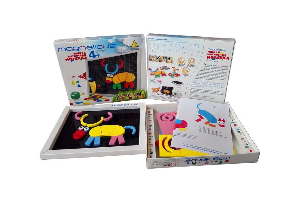 Магнитная мозаика «Забавные животные» (60 элементов, 5 цветов)Магнитные наборы<br>Мозаика в форме игры прекрасно развивает логическое мышление, усидчивость, мелкую моторику, зрительную память и знакомит с новыми интересными фактами из жизни животных. Рекомендуется детям в возрасте от 4 лет.<br> <br> Преимущества магнитной мозаики:<br> - Дета...<br><br>Артикул: MA-60<br>Количество цветов: 5<br>Размер упаковки: 26x21,5x3,5 см<br>Возраст: от 4 лет