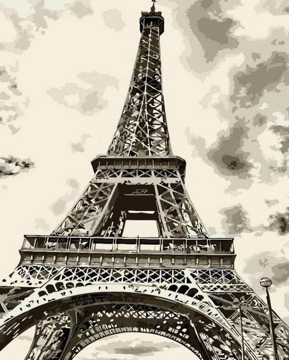 «Эйфелева башня»Раскраски по номерам Menglei (Standart)<br><br><br>Артикул: MG7668_S<br>Основа: Холст<br>Сложность: легкие<br>Размер: 40x50 см<br>Количество цветов: 12<br>Техника рисования: Без смешивания красок