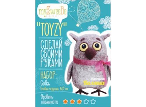 Набор Toyzy «Сова»Валяние игрушек<br>Игрушка, изготовленная своими руками для ребенка или любимого человека, - один из самых трогательных и бережно хранимых подарков. Наборы TOYZY позволяют воплотить смелые желания по рукоделию в жизнь без затрат времени на поиск нужных матери...<br><br>Артикул: TZ-F002_2<br>Сложность: средние<br>Размер: 8x12 см<br>Тип шерсти: Новозеландская кардочесанная шерсть<br>Техника: Валяние