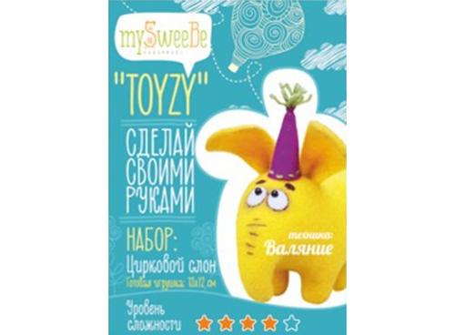 Набор Toyzy «Цирковой слон»Валяние игрушек<br>Игрушка, изготовленная своими руками для ребенка или любимого человека, - один из самых трогательных и бережно хранимых подарков. Наборы TOYZY позволяют воплотить смелые желания по рукоделию в жизнь без затрат времени на поиск нужных матери...<br><br>Артикул: TZ-F003_2<br>Сложность: сложные<br>Размер: 13x12 см<br>Тип шерсти: Новозеландская кардочесанная шерсть<br>Техника: Валяние