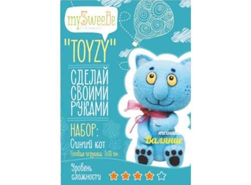 Набор Toyzy «Синий кот»Валяние игрушек<br>Игрушка, изготовленная своими руками для ребенка или любимого человека, - один из самых трогательных и бережно хранимых подарков. Наборы TOYZY позволяют воплотить смелые желания по рукоделию в жизнь без затрат времени на поиск нужных матери...<br><br>Артикул: TZ-F004_2<br>Сложность: сложные<br>Размер: 7x13 см<br>Тип шерсти: Новозеландская кардочесанная шерсть<br>Техника: Валяние