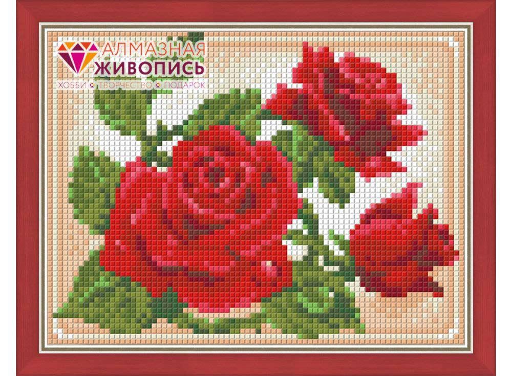 Стразы «Молодая роза»Алмазная Живопись<br><br><br>Артикул: АЖ-1446<br>Основа: Холст без подрамника<br>Сложность: средние<br>Размер: 15x20 см<br>Выкладка: Полная<br>Количество цветов: 15<br>Тип страз: Квадратные