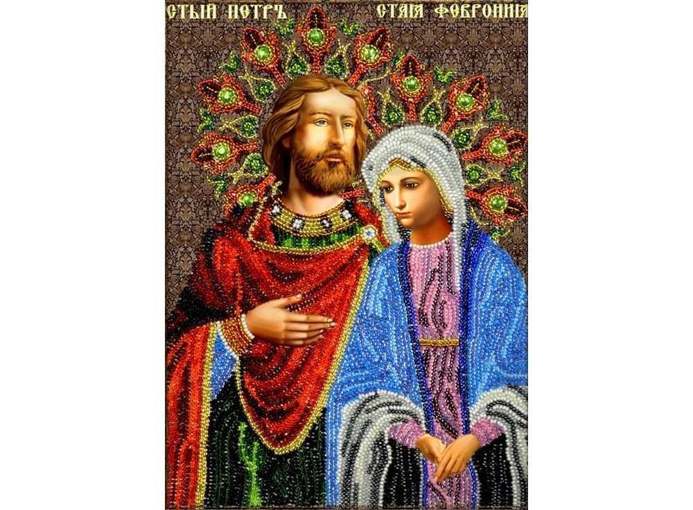 Набор вышивки бисером «Святые Петр и Феврония»Вышивка бисером<br><br>