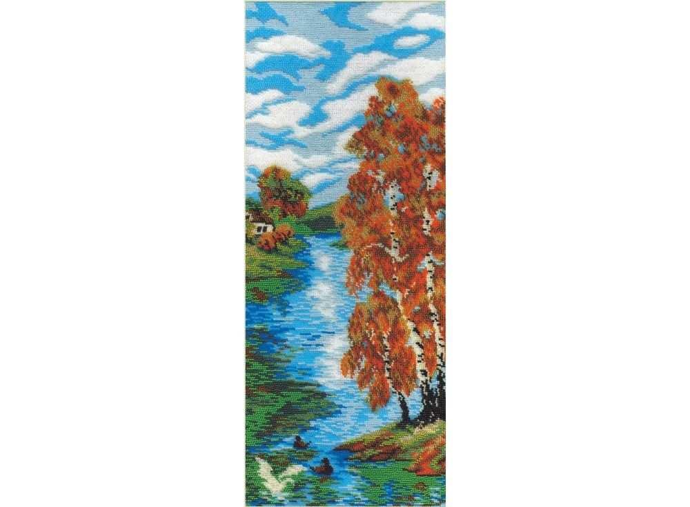 Набор вышивки бисером «Осенний день»Вышивка бисером МП-студия<br><br><br>Артикул: БК-032<br>Основа: канва Aida 14<br>Размер: 19х15 см<br>Техника вышивки: бисер<br>Тип схемы вышивки: Цветная схема<br>Цвет канвы: Белый<br>Количество цветов: 16<br>Рисунок на канве: не нанесён<br>Техника: Вышивка бисером