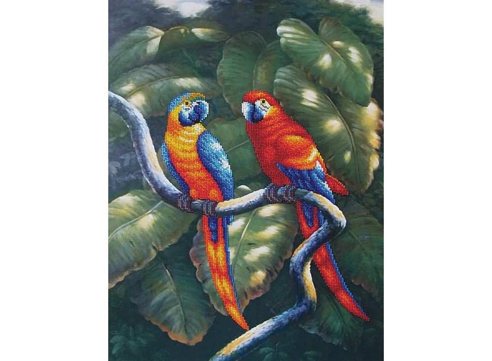 Набор вышивки бисером «Краски джунглей»Вышивка бисером Магия канвы<br><br><br>Артикул: Б-011<br>Основа: ткань<br>Размер: 33,5х47,5 см<br>Техника вышивки: бисер<br>Тип схемы вышивки: Цветная схема<br>Заполнение: Частичное<br>Рисунок на канве: нанесён рисунок<br>Техника: Вышивка бисером
