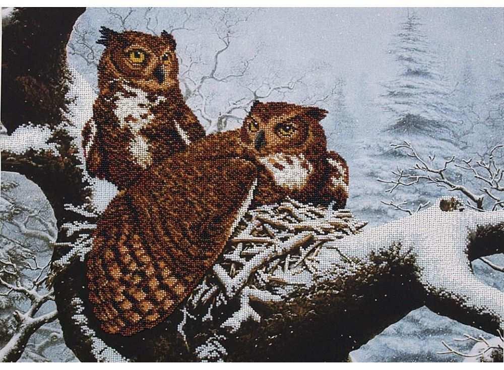 Набор вышивки бисером «Семейное гнездо»Вышивка бисером Магия канвы<br><br>