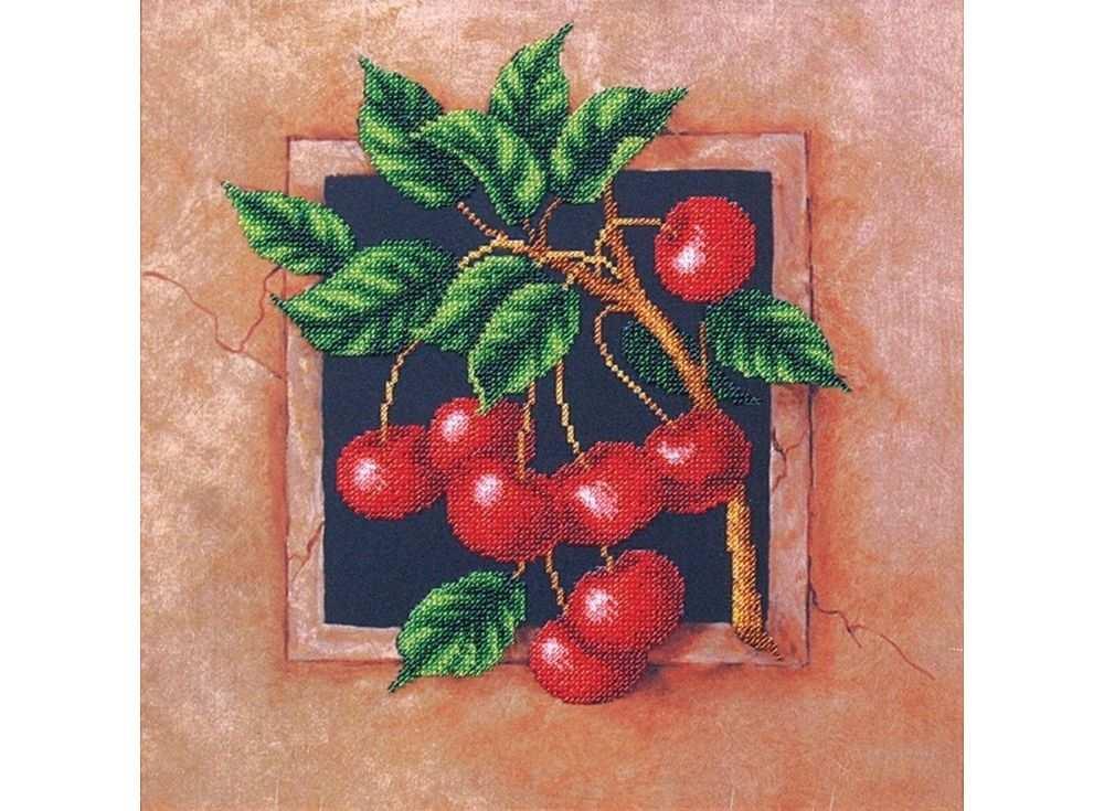 Набор вышивки бисером «Наш сад. Вишня»Вышивка бисером Магия канвы<br><br><br>Артикул: Б-031<br>Основа: ткань<br>Размер: 29,5х29,5 см<br>Техника вышивки: бисер<br>Тип схемы вышивки: Цветная схема<br>Заполнение: Частичное<br>Рисунок на канве: нанесён рисунок<br>Техника: Вышивка бисером