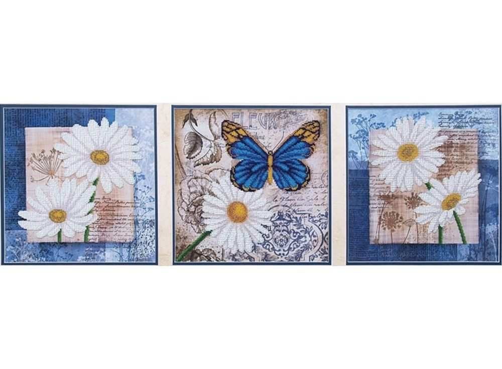 Набор вышивки бисером «Цветы любви»Вышивка бисером Магия канвы<br><br><br>Артикул: Б-038<br>Основа: ткань<br>Размер: 3шт. - 26,5х26,5 см<br>Техника вышивки: бисер<br>Тип схемы вышивки: Цветная схема<br>Заполнение: Частичное<br>Рисунок на канве: нанесён рисунок<br>Техника: Вышивка бисером