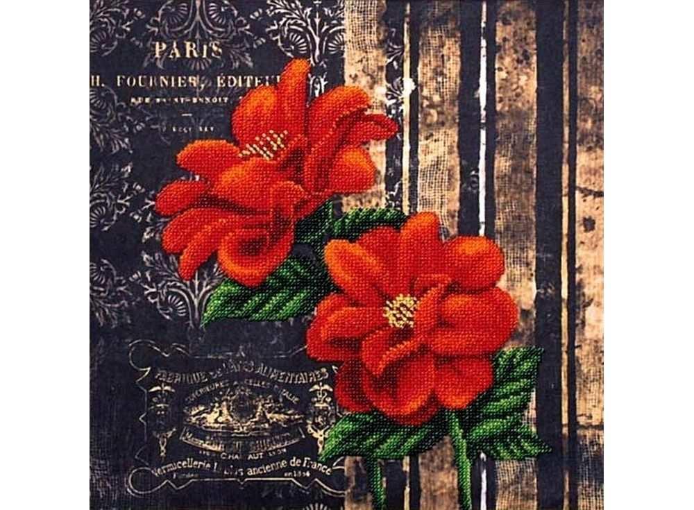 Набор вышивки бисером «Французские цветы»Вышивка бисером Магия канвы<br><br><br>Артикул: Б-060<br>Основа: ткань<br>Размер: 29x29 см<br>Техника вышивки: бисер<br>Тип схемы вышивки: Цветная схема<br>Заполнение: Частичное<br>Рисунок на канве: нанесён рисунок<br>Техника: Вышивка бисером