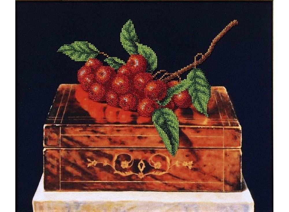 Набор вышивки бисером «Рябина на шкатулке»Вышивка бисером Магия канвы<br><br><br>Артикул: Б-090<br>Основа: ткань<br>Размер: 33,5х27,5 см<br>Техника вышивки: бисер<br>Тип схемы вышивки: Цветная схема<br>Заполнение: Частичное<br>Рисунок на канве: нанесён рисунок<br>Техника: Вышивка бисером